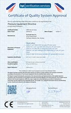 Certificate of Quality System Approval