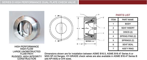 Check Valve 1 Dimensions